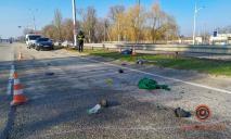 Volkswagen насмерть сбил пешехода на выезде из Днепра (ФОТО)