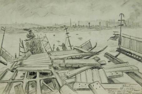 Сотрудник научного музея им. Яворницкого опубликовал рисунки, нарисованные в 1943 году