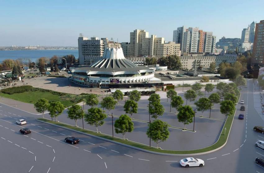 Новости Днепра про Возле цирка появится «эко-парковка»: останется ли место пешеходам