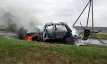 Водитель получил серьезные ожоги пытаясь потушить горящий автомобиль