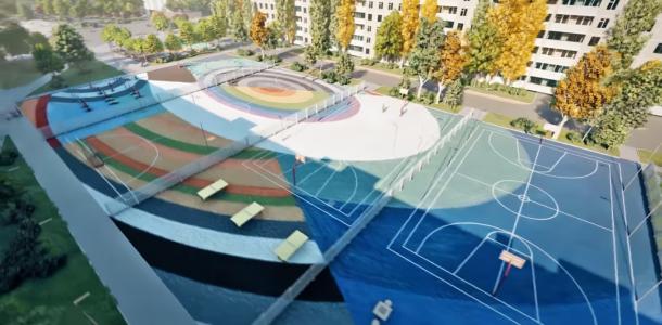 В Днепре за сквером Александра Усачева появится скейт-парк
