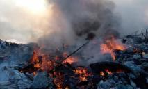 Спасатели тушат масштабный пожар на полигоне