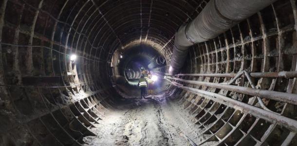Строительство метро в Днепре: уникальные кадры изнутри подземки