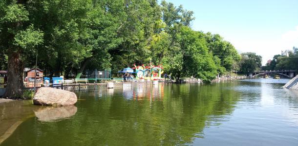 Утки плавают по аллеям: озеро в парке Глобы снова вышло из берегов (ФОТО)