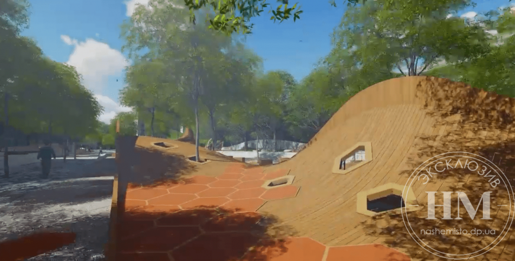Новости Днепра про Скалодром, огромные лавочки и фонтан: как изменится Успенская площадь в Днепре (ФОТО)