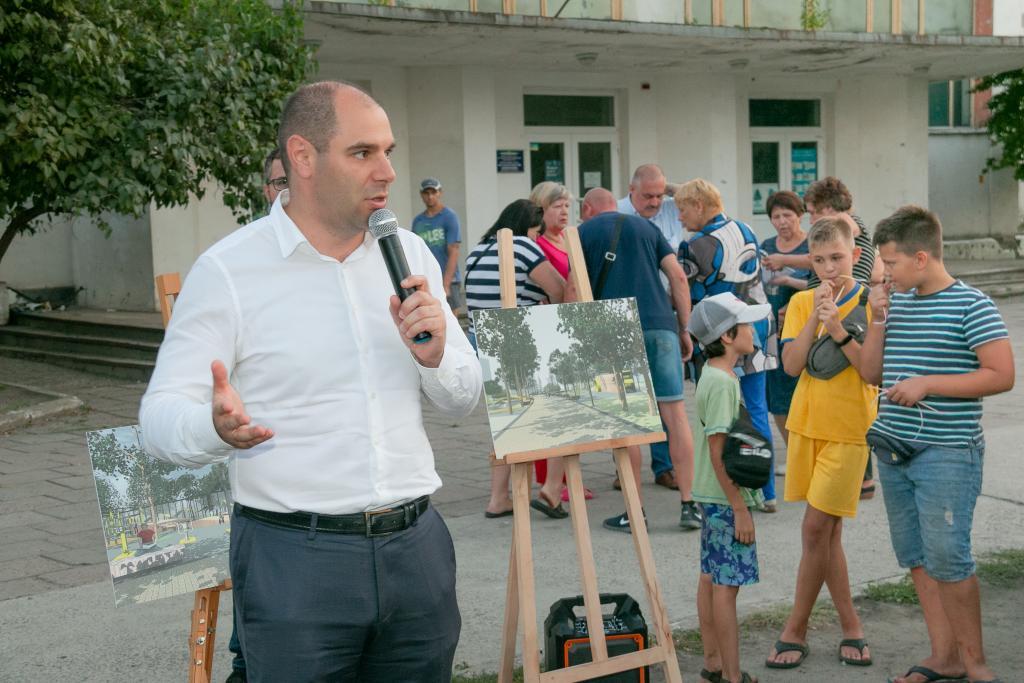 Новости Днепра про Жителям Северного презентовали проект реконструкции сквера