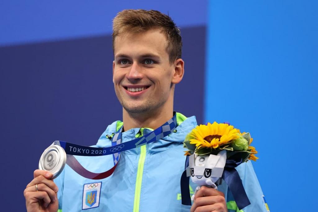 Новости Днепра про Проклятье бронзовых наград снято: украинский пловец завоевал первое олимпийское серебро