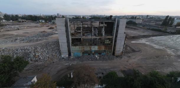 В Днепре вместо снесенного Метизного завода появится гигантский «Эпицентр»: фото с места строительства