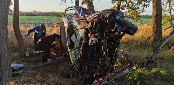 От BMW ничего не осталось, а водитель погиб на месте: ужасное ДТП под Днепром