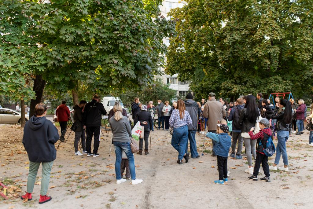 Новости Днепра про В Индустриальном районе реконструируют сквер на Янтарной