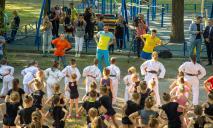 Чемпион мира по фехтованию Богдан Никишин провел тренировку в «активном парке» в Днепре