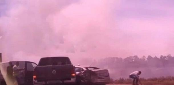 Все в дыму: на трассе Днепр-Запорожье произошло ДТП с 5 авто