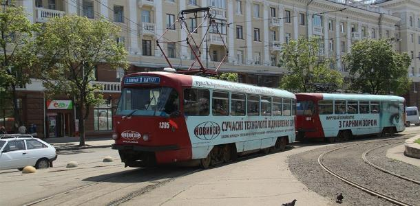 В Днепре на выходных трамваи временно изменят свой маршрут