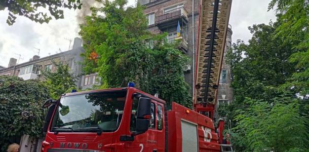 Во время пожара на Пилипа Орлыка пострадала 86-летняя днепрянка