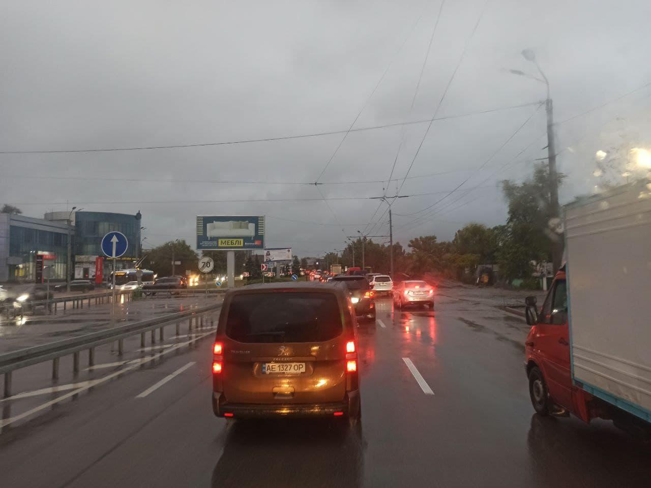 Новости Днепра про Жуткие пробки: В Днепре по проспекту Яворницкого невозможно проехать