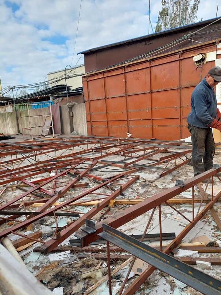Новости Днепра про В Днепре на Березинке снесли строительный рынок