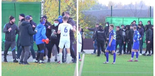 Матч с участием футбольной команды из Днепра закончился массовой дракой (ВИДЕО)