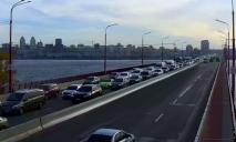 Из-за ДТП: в Днепре замерло движение на Новом мосту