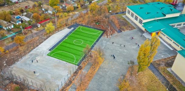 В Покровском лицее обновляют стадион