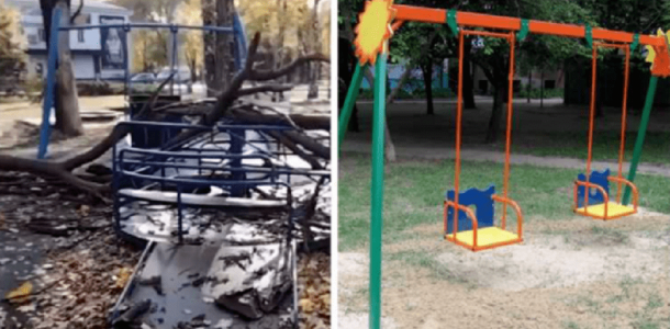 На 4-летнюю девочку, которая каталась на качелях, рухнуло дерево (ФОТО)